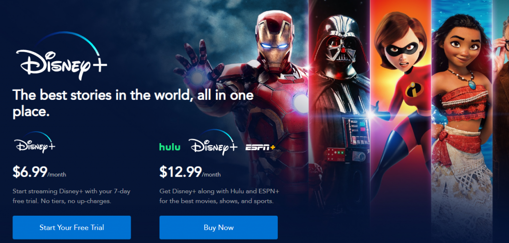 Disney+ pricing
