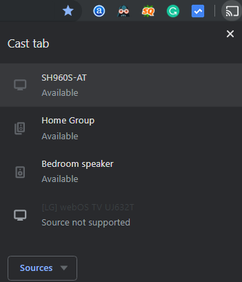 chromecast devices list on chrome