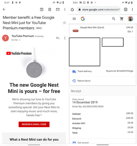 Google Nest Mini Free