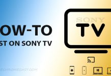 How to Cast on Sony Tv