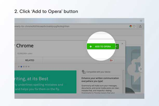 Chrome extensions on opera