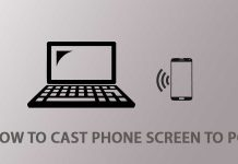 How to cast Phone screen to PC