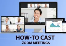 How to cast zoom meetings calls