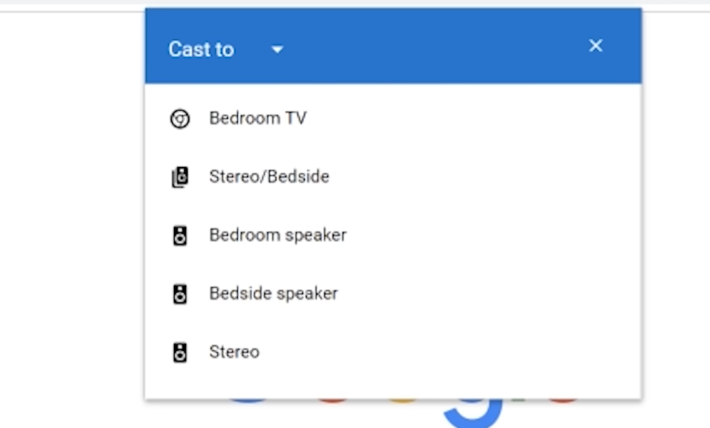 Chrome browser cast