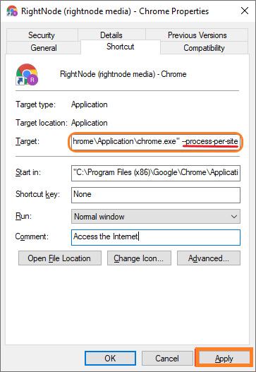 Stop chrome multiple processes