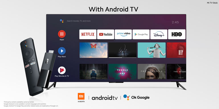 Xiaomi Mi Tv Stock powered Android TV