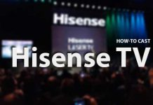 how-to cast Hisense TV