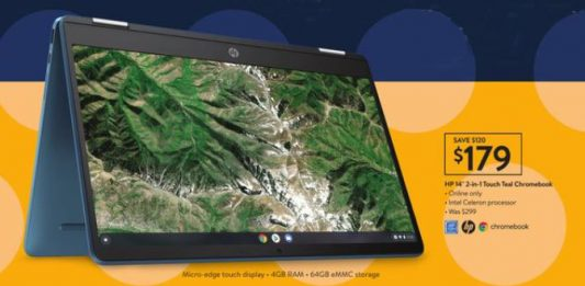 HP 2-in-1 Touch Teal Chromebook Black Friday deals
