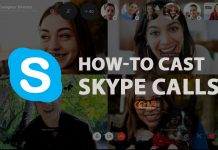 cast skype to tv
