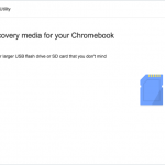 Launch Chromebook Recovery Utility extension