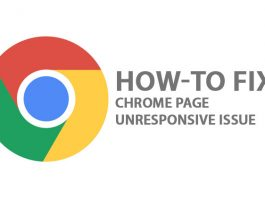 Fix Chrome Page Unresponsive Issue