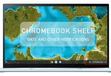 chromebook shelf