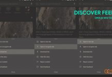 open discover feed in new tab