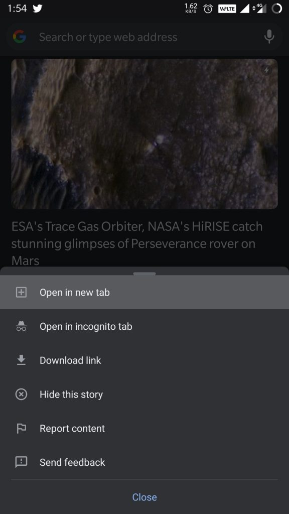 discover tabs for chrome