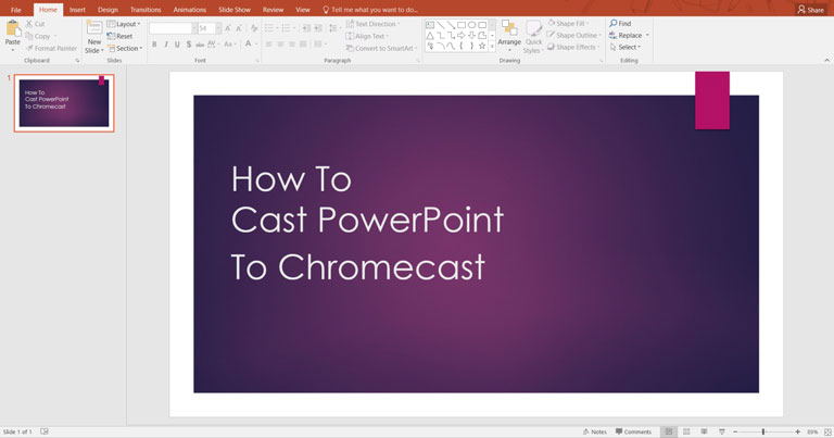 How To Cast PowerPoint to Chromecast
