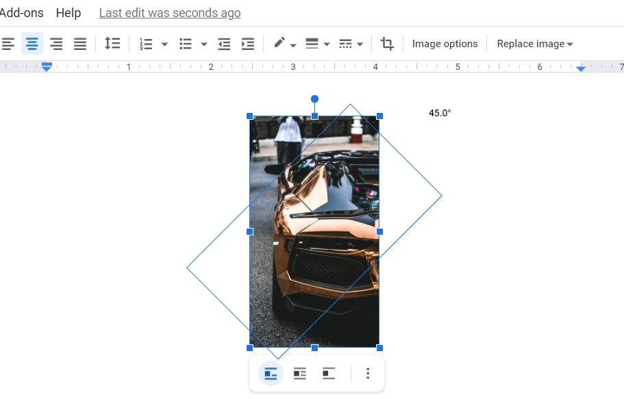 Insert an Image in Google Docs