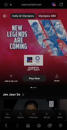 Cast SonyLIV from Android