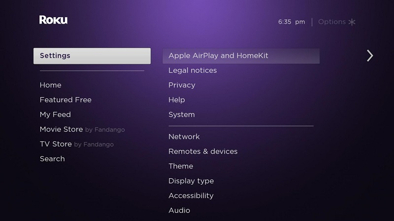 How to Mirror iPhone to Roku TV - Go to Settings