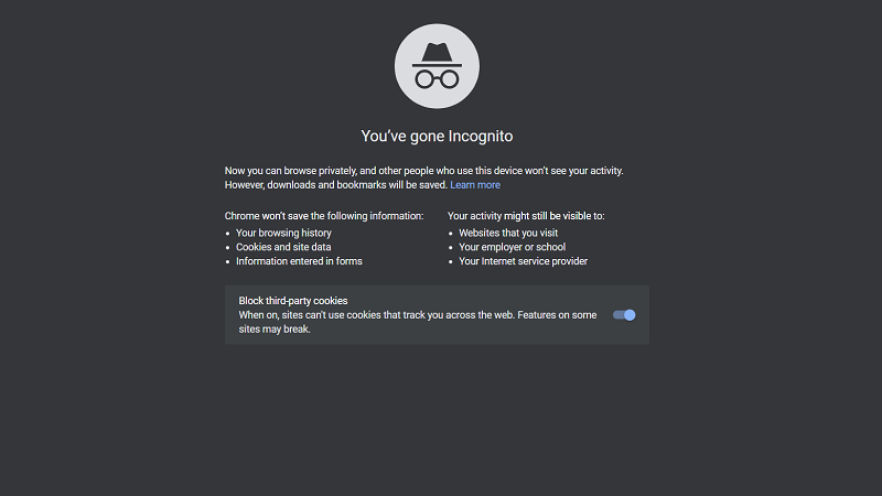 Incognito Mode for Chrome - Start Page